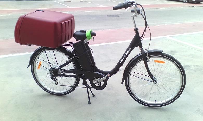 Bici como negocio móvil de pizza