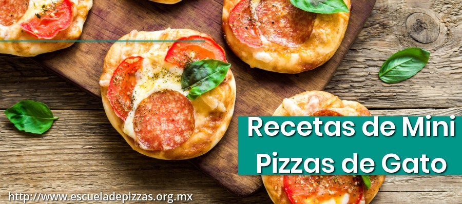 Recetas de Mini Pizzas de Gato