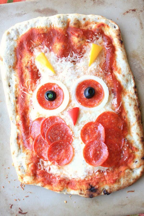 Pizza para el día del niño Buho