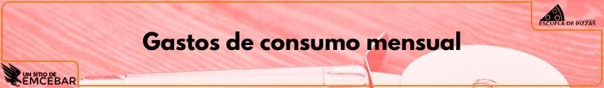 Gastos de consumo mensual